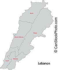 Grey Lebanon map