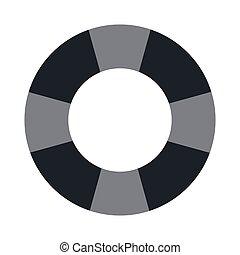 grey lifesaver icon