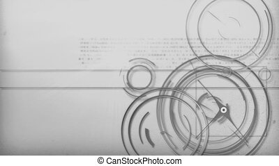 grey light line technology - Motion graphic line of...