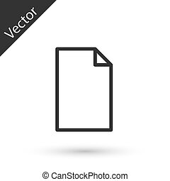 Grey line Empty document icon isolated on white background. Checklist icon. Business concept. Vector