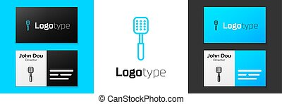 Grey line Spatula icon isolated on white background. Kitchen spatula icon. BBQ spatula sign. Barbecue and grill tool. Vector Illustration