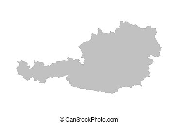 grey map of Austria