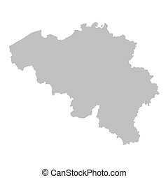 grey map of Belgium