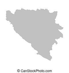 grey map of Bosnia and Herzegovina
