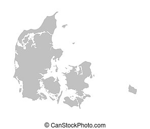 grey map of Denmark