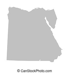 grey map of Egypt