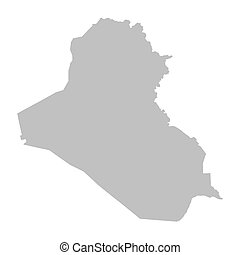 grey map of Iraq