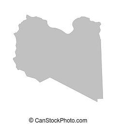 grey map of Libya
