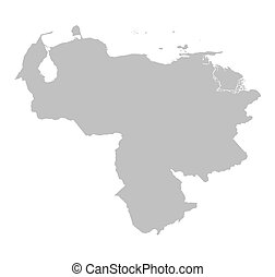 grey map of Venezuela