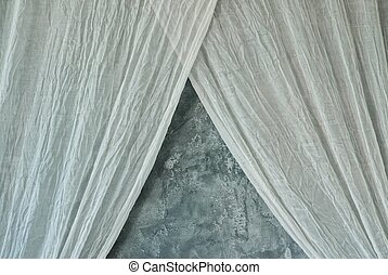 Grey marble wall with curtains beautiful view