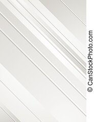 Grey minimal tech striped flyer background