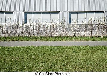 Grey modern wall