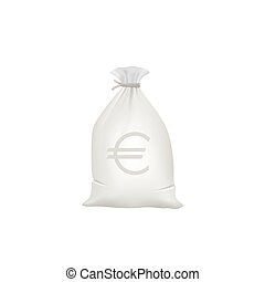 Grey Money bag with euro sign