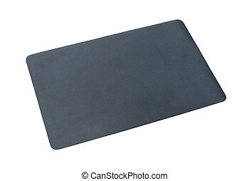 Grey mouse-pad isolated on white background