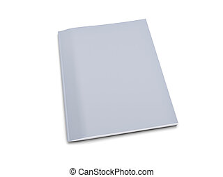 Grey notebook isolated on white background