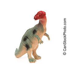 grey pachycephalosaurus on a white background