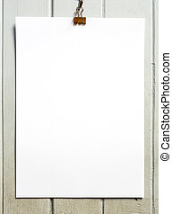 blank paper with clip