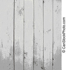 Grey painted wooden planks