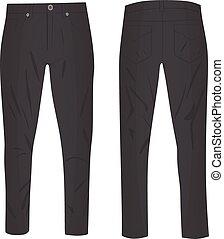 Grey pants. vector illustration