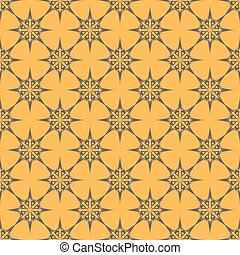 Grey patterns on orange background. Seamless pattern. Abstract vector.