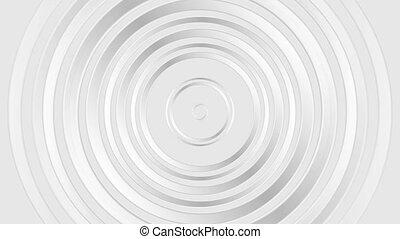 Grey pearl glossy abstract circles video animation - Grey...