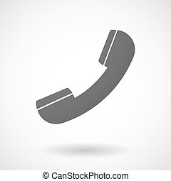 Grey phone sign