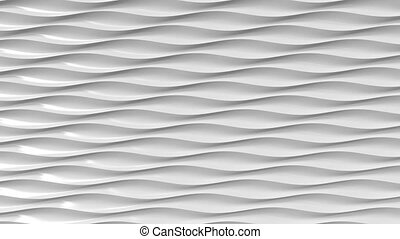 Grey plastic wavy lines. Loopable motion background