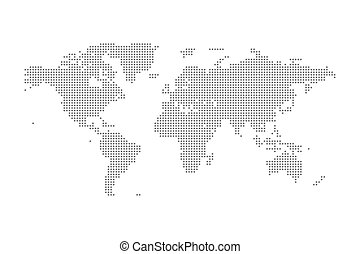 Vector whole world political map vector world political map with al grey political world map vector isolated illustration gumiabroncs Choice Image