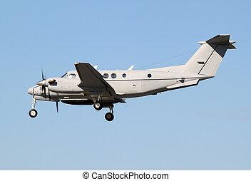 grey prop plane