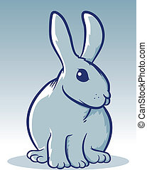 Grey Rabbit Cartoon