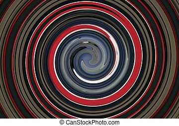 Grey Red white blue black swirl - a graphic design and or...