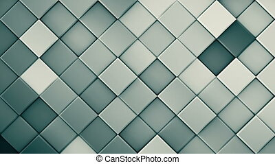 Grey rhombs extruded 3D render loopable animation
