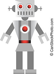 Grey Robot vector illustration image scalable to any size.