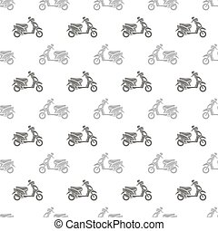 Seamless Scooter Pattern