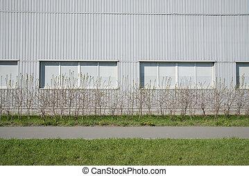 Grey siding modern wall
