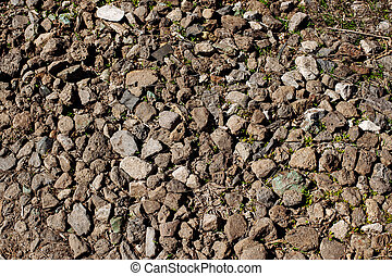 Grey small road stone background
