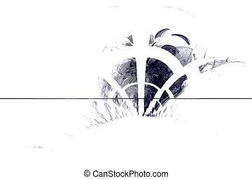 grey smoke and white lattice, seamless loop animated fractal
