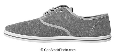 Grey sneaker isolated