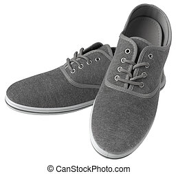 Grey sneakers isolated