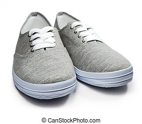 Grey sneakers or sneaker shoes