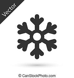 Grey Snowflake icon isolated on white background. Vector Illustration