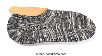 grey socks for men on a white background