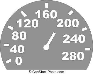 Grey speed indicator