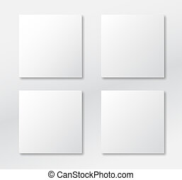 Grey square blank background