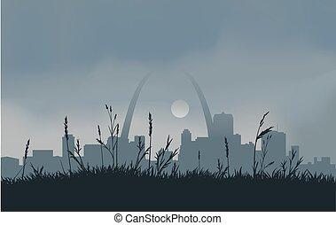 Grey St. Louis Sunset