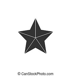 Grey Star icon. Vector illustrations. Flat design.