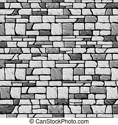 grey stone wall seamless - vector seamless pattern with...