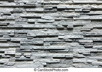 Grey Stone wall with a beautiful pattern texture
