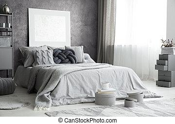 Grey stylish interior