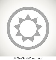 Grey sun sign icon
